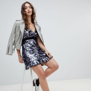NWT Free People Sequin Siren Mini Dress